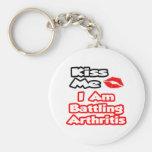 Béseme… que estoy luchando artritis llaveros personalizados