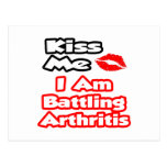 Béseme… que estoy luchando artritis tarjeta postal
