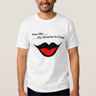 Béseme que me divorcio playeras