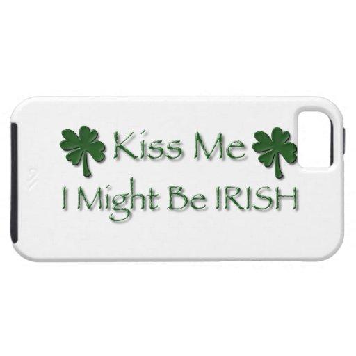 Béseme que puede ser que sea IRLANDÉS iPhone 5 Case-Mate Carcasas