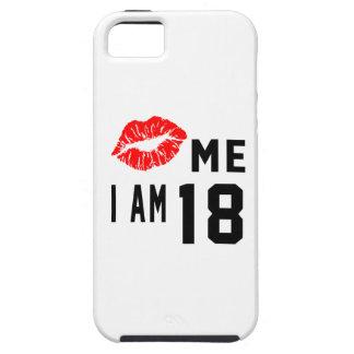 Béseme que soy 18 funda para iPhone 5 tough