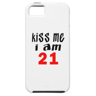 Béseme que soy 21 funda para iPhone 5 tough