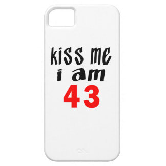Béseme que soy 43 iPhone 5 fundas