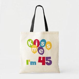 Béseme que soy 45 camisetas y regalos del bolsas lienzo