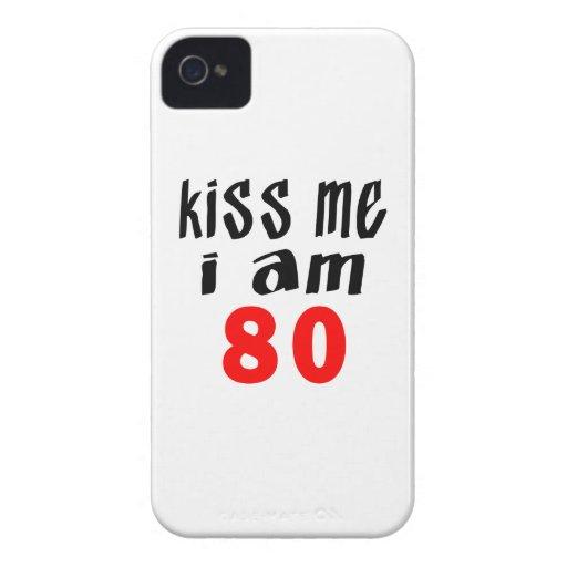 Béseme que soy 80 iPhone 4 Case-Mate coberturas