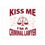 Béseme que soy abogado criminal postales