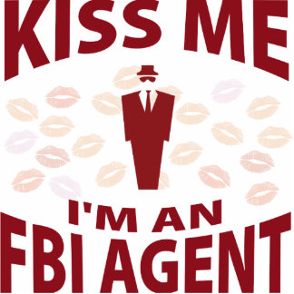 Béseme que soy agente del FBI Adorno Fotoescultura