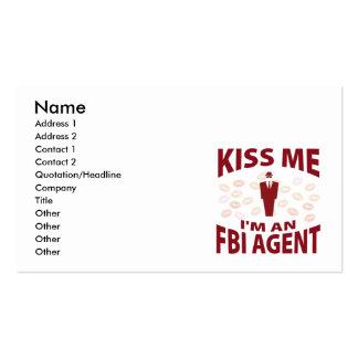 Béseme que soy agente del FBI Plantilla De Tarjeta De Visita
