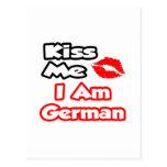 Béseme… que soy alemán postales