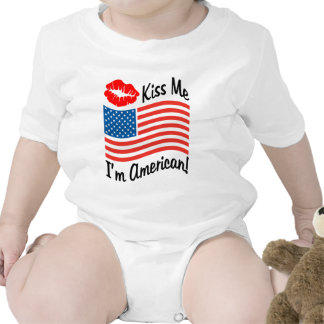 Béseme que soy americano trajes de bebé