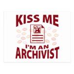 Béseme que soy archivista postal