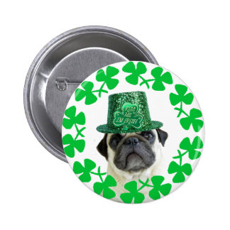 Béseme que soy botón irlandés del barro amasado pins
