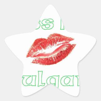 Béseme que soy búlgaro pegatina en forma de estrella