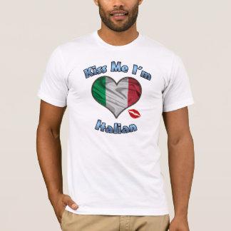 Béseme que soy camiseta italiana de la bandera