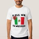 Béseme que soy camiseta mexicana poleras