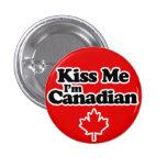 Béseme que soy canadiense - diseño del día de Cana Pin