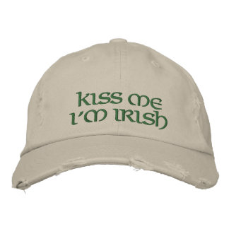 Béseme que soy casquillo bordado irlandés gorra de beisbol bordada