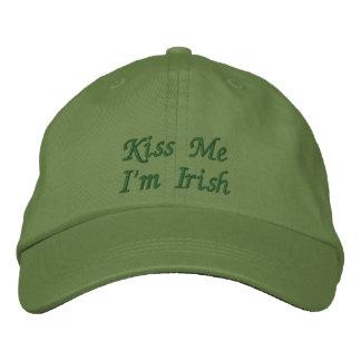 Béseme que soy casquillo/gorra bordados irlandés gorra de béisbol bordada