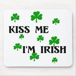 Béseme que soy cojín de ratón irlandés tapetes de ratón