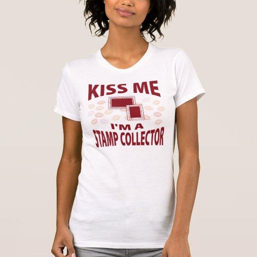 Béseme que soy colector de sello tee shirts