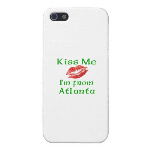 Béseme que soy de Atlanta iPhone 5 Fundas