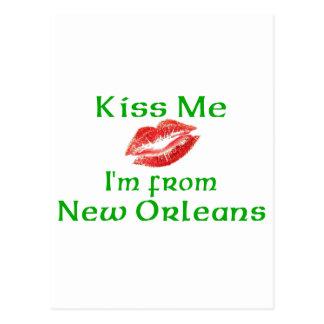 Béseme que soy de New Orleans Tarjeta Postal