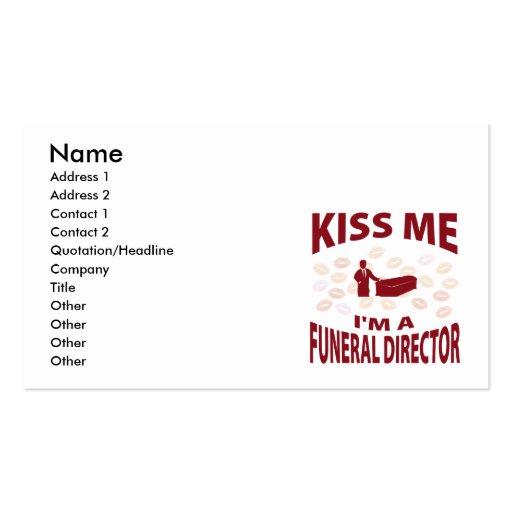 Béseme que soy director de funeraria plantilla de tarjeta personal