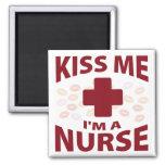 Béseme que soy enfermera imán de nevera