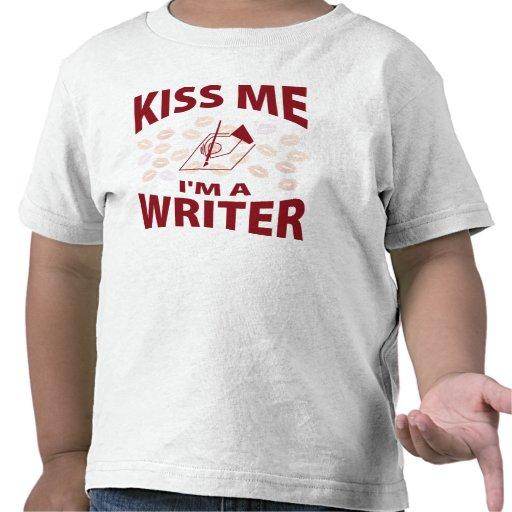 Béseme que soy escritor camiseta