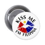 Béseme que soy filipina pin redondo 5 cm