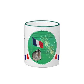 Béseme que soy francés Drinkware Taza A Dos Colores