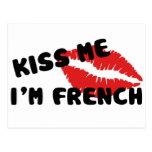 Béseme que soy francés tarjeta postal