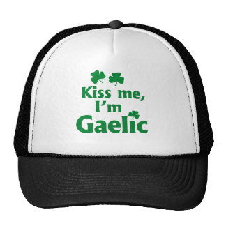 Béseme que soy gaélico gorra