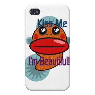Béseme que soy hermoso iPhone 4/4S carcasa