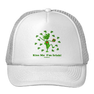 Béseme que soy (hoy) regalos y camisetas irlandese gorra