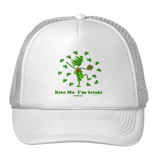 Béseme que soy (hoy) regalos y camisetas irlandese gorro de camionero