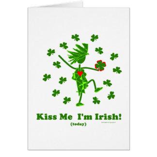 Béseme que soy (hoy) regalos y camisetas irlandese tarjeton