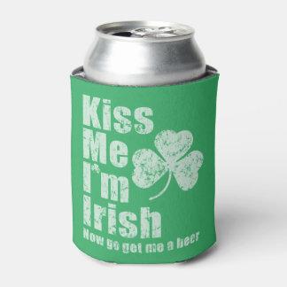 Béseme que soy irlandés ahora voy me consigo una enfriador de latas