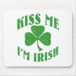 Béseme que soy irlandés alfombrilla de ratones