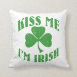 Béseme que soy irlandés almohadas
