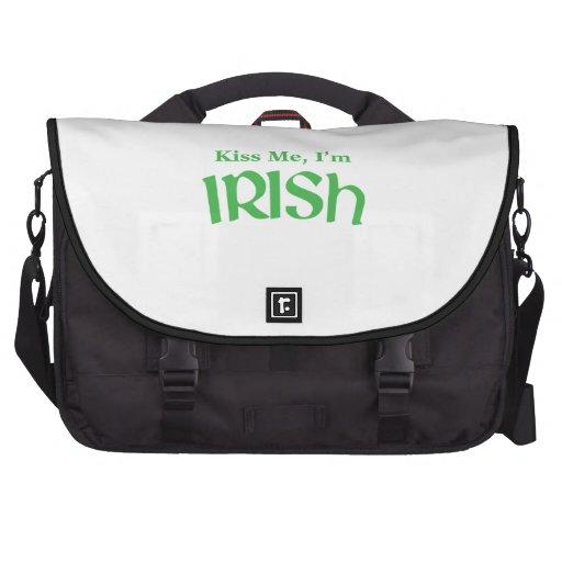 Béseme que soy irlandés bolsas de portatil