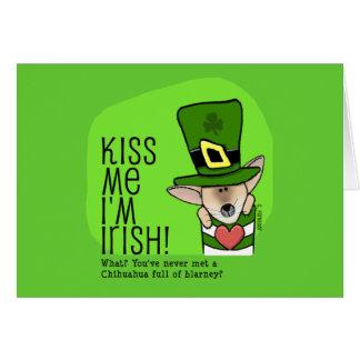 Béseme que soy irlandés, chihuahua felicitaciones