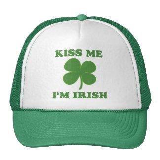 Béseme que soy irlandés gorra