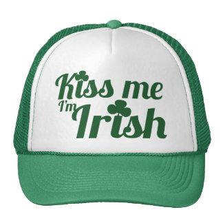 Béseme que soy irlandés gorras de camionero