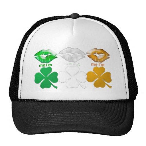 Béseme que soy irlandés gorro