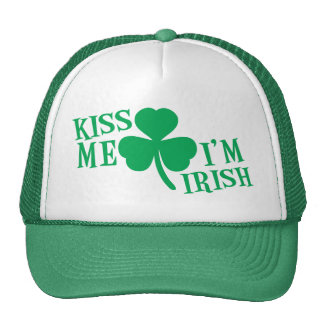 BÉSEME que soy irlandés Gorro De Camionero
