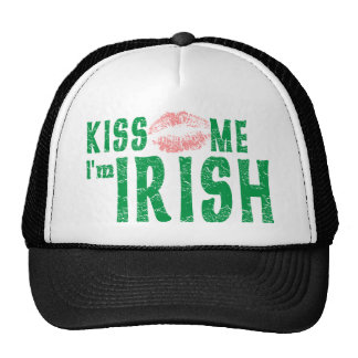 Béseme que soy irlandés gorros