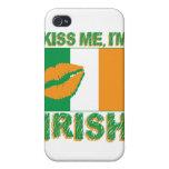 Béseme que soy irlandés iPhone 4 carcasas