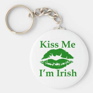 Béseme que soy irlandés llavero