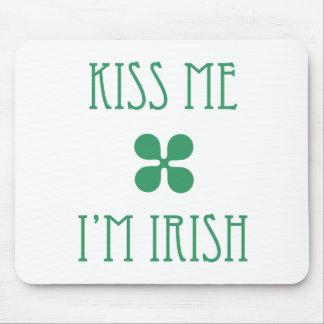 Béseme que soy irlandés Mousepad